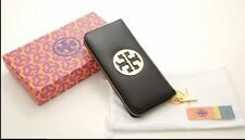 New Tory Burch Wallet Black Leather Purse