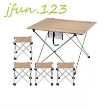 Lightweight Outdoor Furniture Set Folding Table with 4 Chairs For Hiking Garden