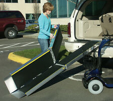 Portable Folding Access Ramp Wide Scooter or Wheelchair Loading Mobility Ramps