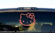Hello Kitty Head Face Bow Car Truck Wall Vinyl Window Decal Decals Sticker