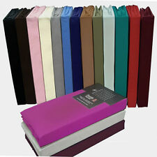 New Fitted,Flat,Fitted Valance Sheets Percale Quality All Sizes & Pillow Cases