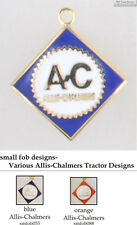 Allis Chalmers tractor fobs, various designs & watch chain options