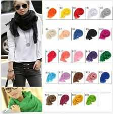 24color Women Pure Candy Long Crinkle Soft Scarf Wrap Voile Wraps Shawl Trend