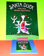 santa duck – by David Milgrim - scholastic book + cd (BUY 3 FREE SHIP)