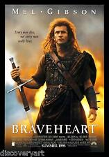 Brave Heart 1995 multi taille Toile Mur Art Film Movie Poster Print Écosse guerre