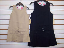 Girls Dockers School Uniform Jumper Dress Khaki & Navy Size 4-16