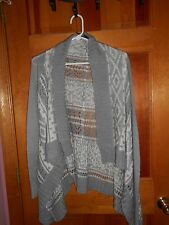 Womens / girls sweater in size small - acrylic - machine washable - gray & white