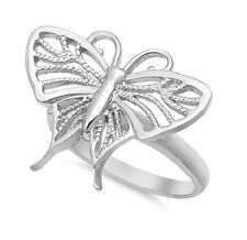 Beautiful Butterfly On Thin Ring, 925 Silver, Girly, Bright, Sleek, Trendy, Sexy