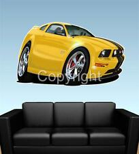 2005 Mustang GT Ford FAT WALL GRAPHIC DECAL MAN CAVE MURAL 6140 cartoontees