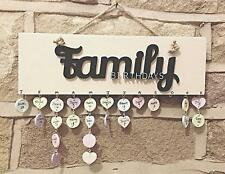 Family Birthdays - Birthday Reminder Plaque - Calendar Board Friends Family