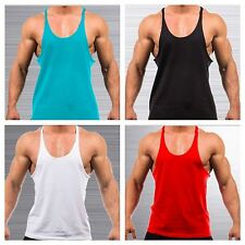BODYBUILDING STRINGERS gym apparel workout tank top mens fitness racerback shirt