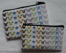 Pokemon CUSTOM EEVEELUTIONS Eevee Sylveon Jolteon New 3DS/XL Zipper Pouch Case