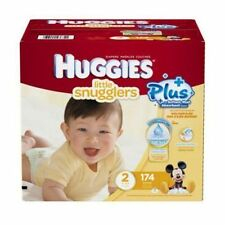 Huggies Diapers 174-192 count: Little Snugglers Movers Plus, Size 1 or 2