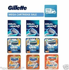 Gillette Mach3 Blades Cartridges Pack of 2 4 8 12 -Fusion Power Proglide Shaving