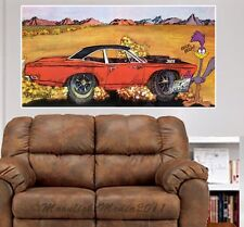1969 Road Runner Retro Ad Repro WALL GRAPHIC FAT DECAL MAN CAVE MURAL 9531RR