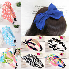 Lady Girl Flower Big Bowknot Ribbon Hair Headband Bow Head Band Clip Accessories