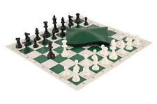 Basic Chess Set Combination - Triple Weighted Regulation Pieces | Vinyl Chess Bo