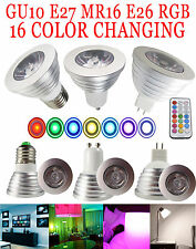 3W 4W GU10 E27 16 Color LED RGB Spot Light Magic Bulb Lamp With Wireless Remote