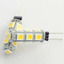 10pcs G4 LED 5050 13SMD White/Warm White Car Bulb Marine Reading Lights Lamp 12V