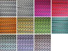3 Metres POLKA DOT SPOTTY 10mm GROSGRAIN RIBBON WITH BLACK SPOTS - 11 COLOURS