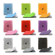 Magnetic Slim Leather Stand Smart Cover Back Case For Apple iPad 2 iPad 3 iPad 4