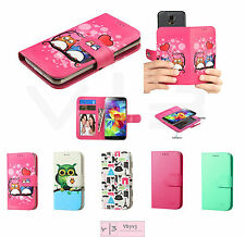 """Universal Cell Phone Cover Leather Flip Wallet Case Slide Camera Size 4.0""""- 4.7"""""""
