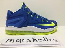 NIKE MAX LEBRON XI SPRITE 11 LOW 642849 471 HYPER COBALT BLUE/VOLT-WHITE-PHOTO