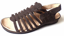 GLUV LEATHER SLING BACK SANDALS LEATHER SANDALS SALE HOLIDAY SHOES BROWN