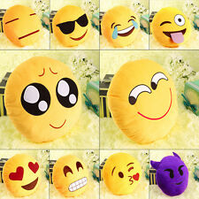 Hot Toy Emoji Smiley Emoticon Yellow Round Cushion Pillow Stuffed Plush Soft S2