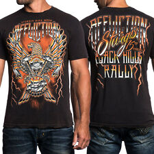 Affliction Iron Eagle Sturgis 75th A12169 Biker Rally T-Shirt Brown S-4XL NEW LE