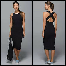 NEW Lululemon Picnic Party Dress Black Criss Cross Back SOLD OUT NWT Sz 2 4 6 8
