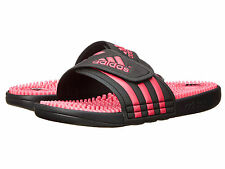 Women's Adidas Adissage Black / Pink Slides Shower Sport Sandals C76080 Sz 6-11