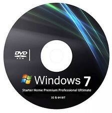 Windows 7 Ultimate Professional Home 32 64 bit Bootable Recovery Re install DVD