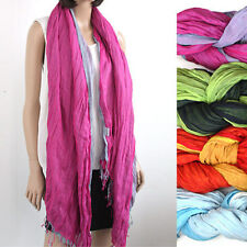 F1 Women Men Scarf Voile Double COTTON Stole wrap shawl soft solid NEW SCARF