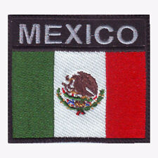 MEXICO FLAG BADGE EMBROIDERED PATCH