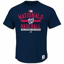 Washington Nationals Majestic  Authentic Collection Team Property T-Shirt - Blue
