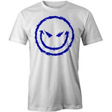 Evil Smiley Emoticon T-Shirt Funny Face Bad Biker Tee New