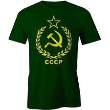 CCCP USSR T-Shirt Communist Soviet Russian Red Army Stalin Tee New
