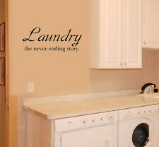 Laundry Never Ending Story Vinyl Wall Quote Decal