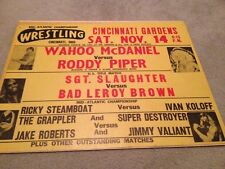 ^^^Mid Atlantic Wrestling Poster  NWA WWE WWF Roddy Piper Wahoo OH Crockett^^^