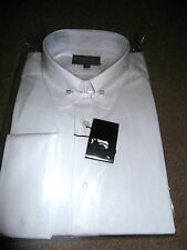 "MENS WHITE COLLAR PIN SHIRT  VARIOUS SIZES 15""-19.5"""