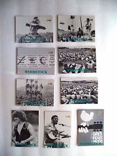 WOODSTOCK MUSIC FESTIVAL/EASDALE ISLAND TRADING CARDS MIXED LOT OF 31 CARD MINT