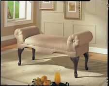 Rolled Arm Bench Lounge Seat Sofa Old Fashion Loveseat Living Room Hall Bedroom
