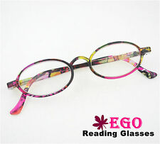 EGO Rainbow Color Translucent Unisex Reading Glasses Hipster All Strength