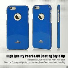 Genuine MERCURY Goospery Blue Jelly Case + Apple LOGO Cutout For iPhone 6/6s