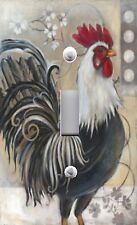 Light Switch Plate & Outlet Covers BLACK AND WHITE FRENCH ROOSTER
