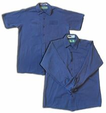 Red Kap Men's Industrial 100% Cotton Work Shirt Postman Blue Short/Long Sleeve