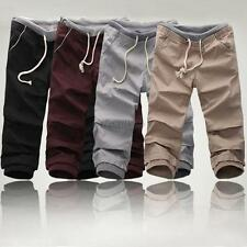 Korea Style Mens Boys Sports Cotton Cropped Trousers Straight Shorts Casual Pant