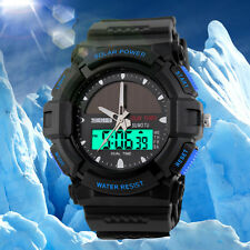 Casual Military Rubber Band Quartz  LCD Analog Digital Men's Outdoor Sport Watch