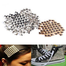 100Pcs Fashion DIY Spike Square Stud Rivet Punk Rock Design Bag Belt Craft